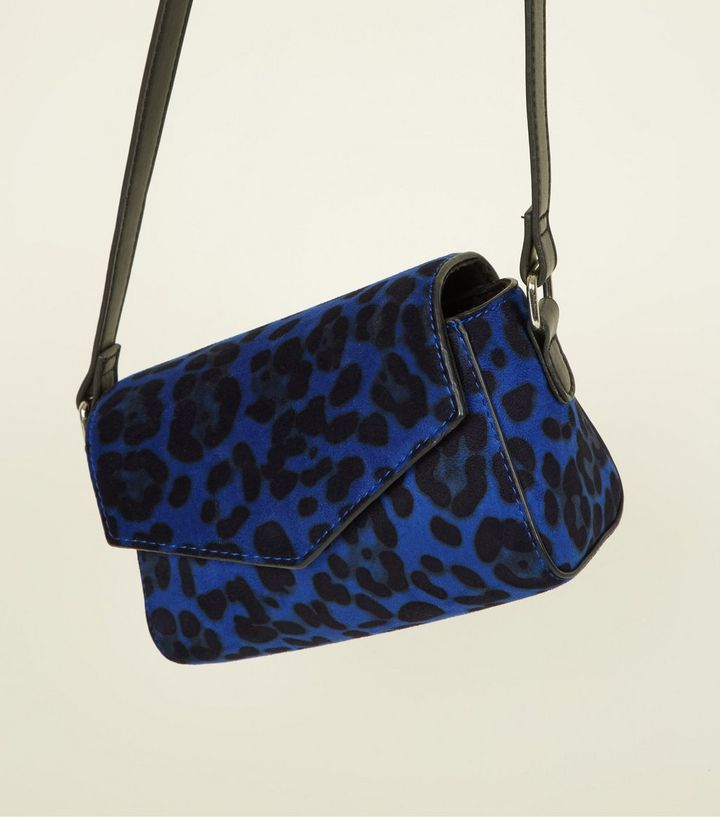 Blue Leopard Print Cross Body Bag | New Look