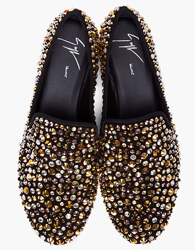 Giuseppe Zanotti Gold Swarovski Kevin Loafers « BAGAHOLICBOY.COM | Singapore's Only Dedicated Bag Blog