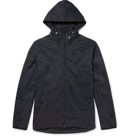 Camouflage-Print Shell-Ripstop Hooded Jacket