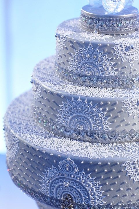 white henna wedding cake | Sugar cake | Pinterest