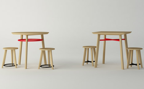 Noughts and Crosses tables by Michael Sodeau for Modus
