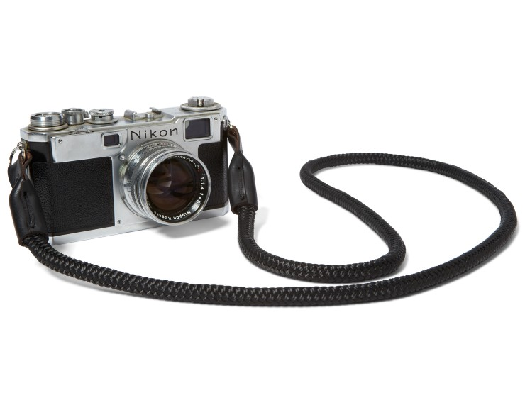 BLACK BRIDLE LEATHER + PARACORD : CAMERA STRAP - VIEW ALL