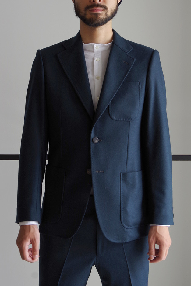 SINGLE BREASTED JACKET / FOREST GREEN - RAINMAKER KYOTO