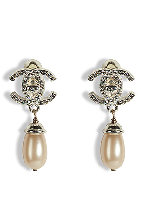 STYLEBOP.com | PearlandcrystaldoubleCearringsbyCHANELVINTAGEJEWELRY | the latest trends from the fashion capitals of the world