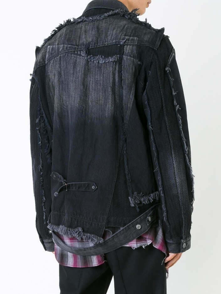 Miharayasuhiro Misplaced Denim Jacket - Le Gray - Farfetch.com