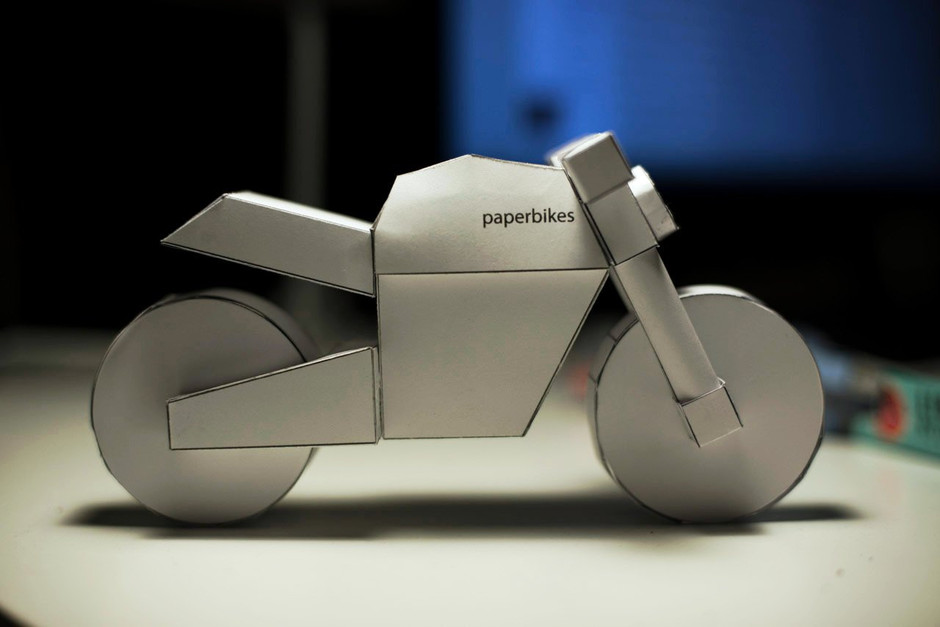 paperbikes v101 naked motorcycle ducati monster by Paperbikes