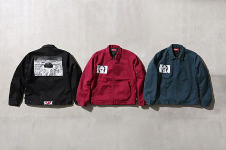 Work Jacket with woven patch.