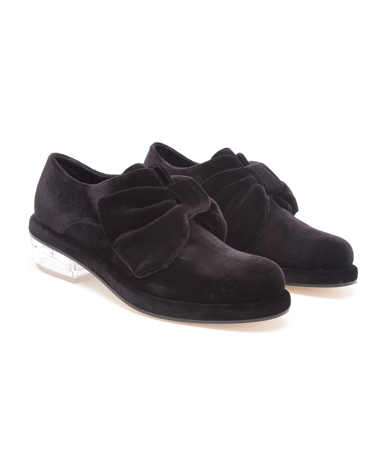 SIMONE ROCHA | Velvet and Perspex Monk Shoe | Browns fashion & designer clothes & clothing