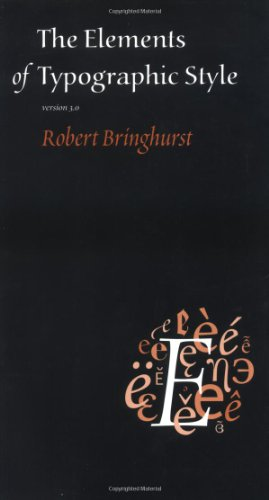 Amazon.co.jp: The Elements Of Typographic Style: Version 3.1: Robert Bringhurst: 洋書