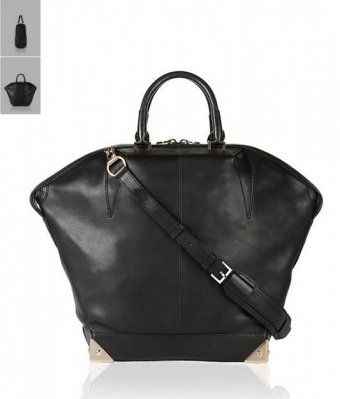 【LASO ラソ】円高還元!!■Alexander Wang■EMILE TOTE LARGE WITH VINTAGE GOLD HARDWARE・BLACK アレキサンダー・ワン