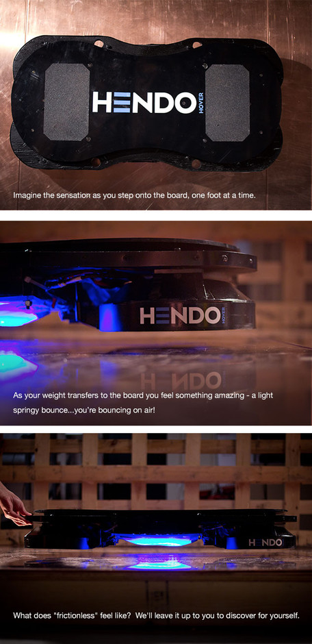 Fancy - they did it! They actually made a working, floating hoverboard capable of supporting an adult!