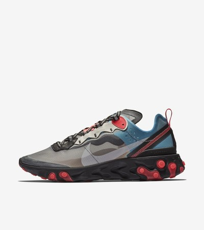 Nike React Element 87 'Solar Red & Black & Blue Chill'