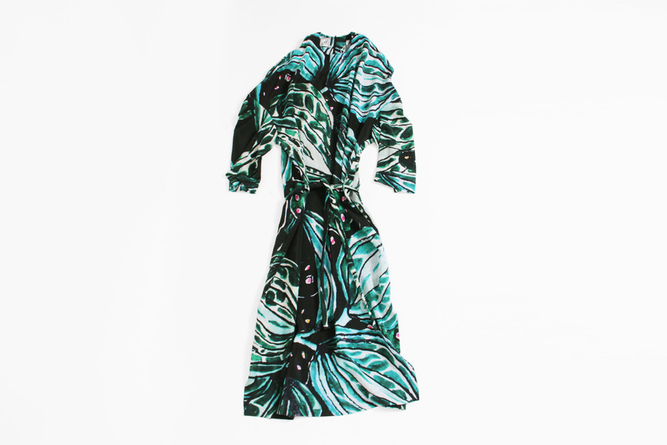 ANNTIAN Blazer Dress Long - Leaf Print — 100 Year Party