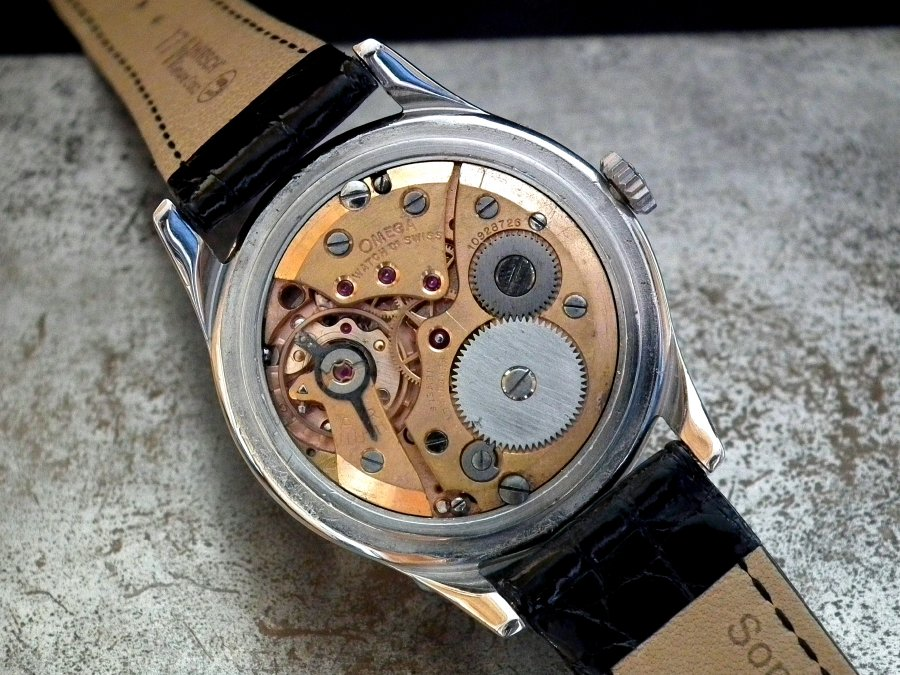 Stunning 1947 Steel Omega Cosmic 'Moonphase' Gents Vintage Watch | Sonning Vintage Watches