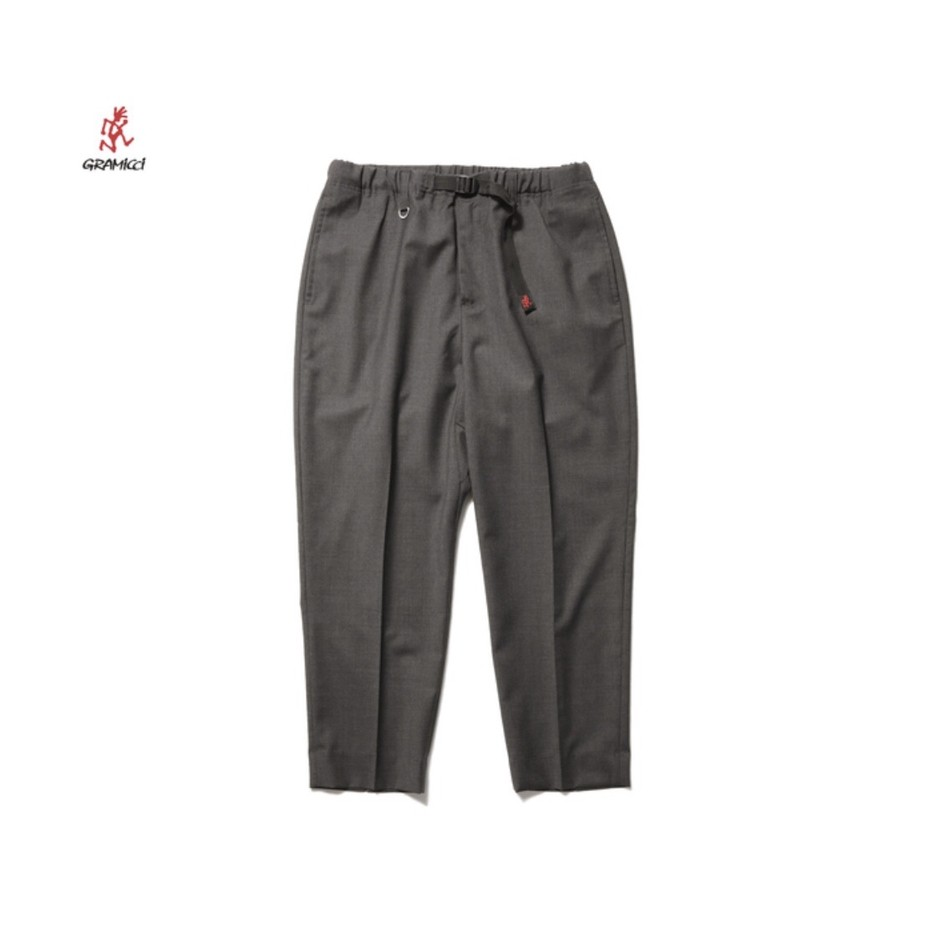 SOPH. | Gramicci WIDE CROPED TAPERED PANTS by LORO PIANA(S CHARCOAL GRAY):
