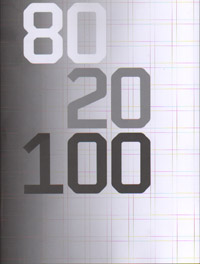 80 20 100 - Wim Crouwel 100 Designs. by CROUWEL. : William Stout Architectural Books : Books on architecture, art, urban planning, graphic and industrial design, furniture and interior design, and lan