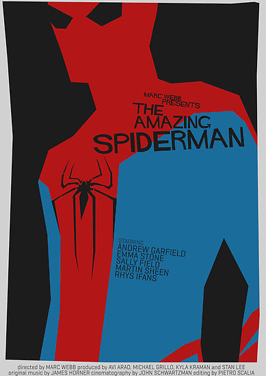"""The Amazing Spider-man - Saul Bass Inspired Poster (Untextured)"" by Alex Clark 