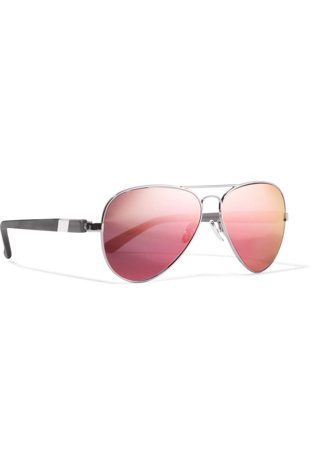 Westward Leaning | Concorde 14 aviator-style acetate and gunmetal-tone mirrored sunglasses | NET-A-PORTER.COM