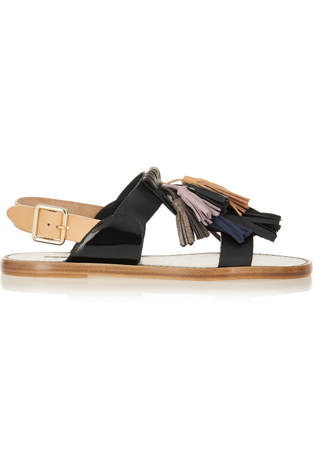 Isabel Marant | Étoile Clay tasseled leather sandals | NET-A-PORTER.COM