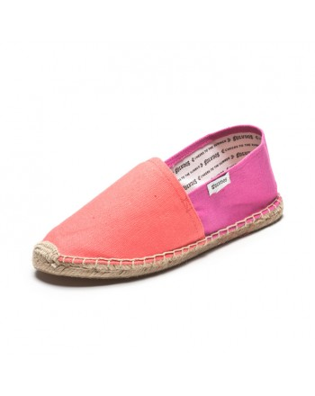 Color Block - Neon Salmon & Pink Espadrilles for Women from Soludos - Soludos Espadrilles