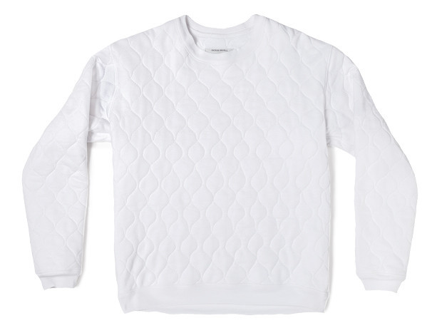 Neighbour — Quilted Sweatershirt White