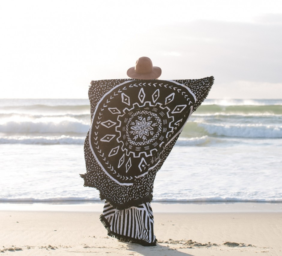The Dreamtime Round Towel - The Beach People Vol 2