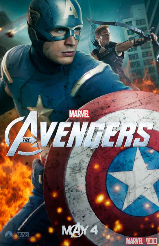 New Marvel's The Avengers poster featuring Captain America & Hawkeye | Marvel Images | Downloads & Extras | Marvel.com