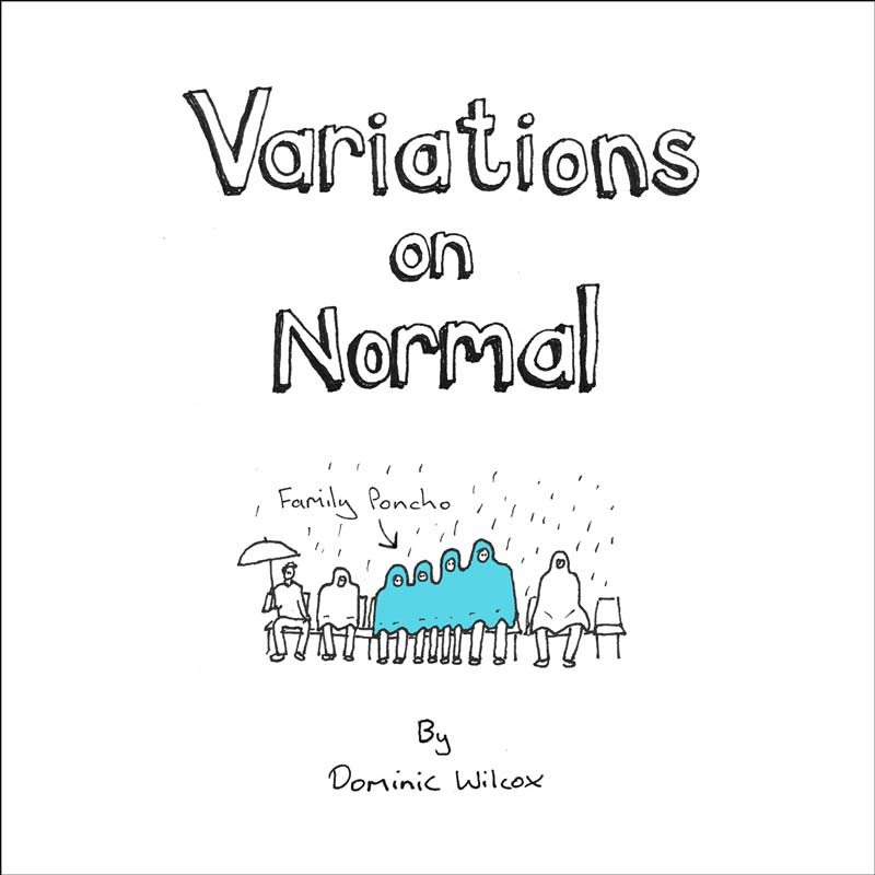 Variations on normal book of invention drawings by Dominic Wilcox | Dominic Wilcox