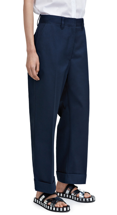 Acne Studios - Eora chino tw navy - Trousers - SHOP WOMAN - Shop Shop Ready to Wear, Accessories, Shoes and Denim for Men and Women