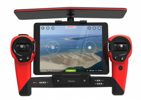 Parrot Bebop Drone. Lightweight yet robust quadricopter - 14 megapixel sensor with Full HD 1080p - Sky Controller - 3-axes image stabilization