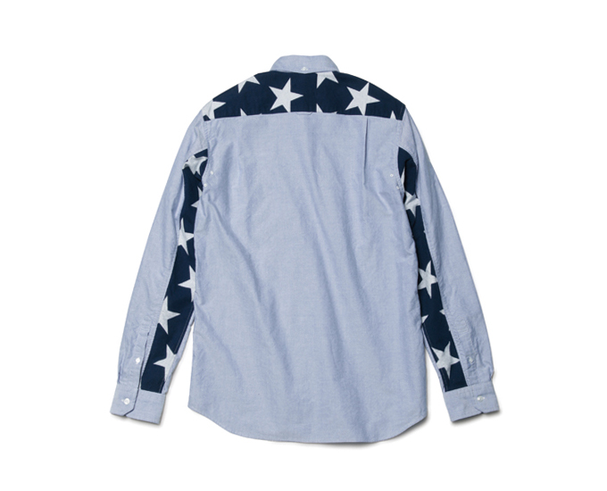 SOPHNET. | PRODUCT | STAR COTTON FLANNEL PANEL OXFORD B.D SHIRT