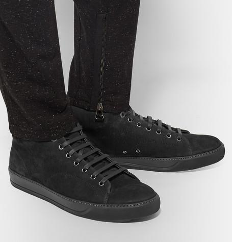 Lanvin - Grained-Nubuck Sneakers