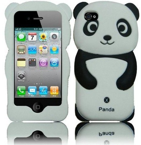 Amazon.com: Black Panda Silicone Jelly Skin Case Cover for Apple Iphone 4G, 4, 4S and 4GS: Cell Phones & Accessories