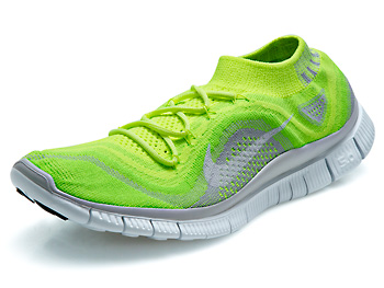 Nike Free Flyknit+ Men's Shoes Volt/White/Electric Grn