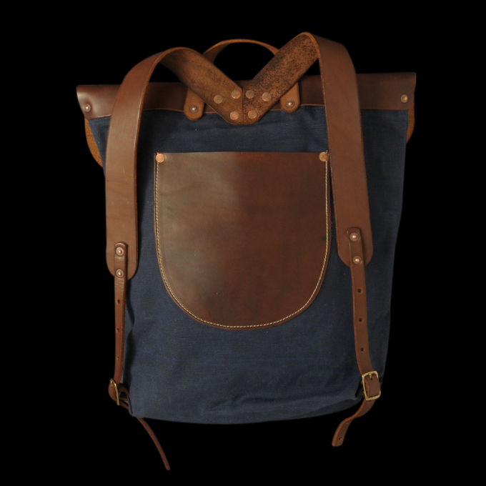 UNIONMADE GOODS - Stanley & Sons - Waxed Canvas Backpack in Navy