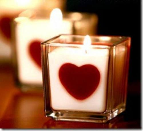 valentine's day Candle | via Facebook | We Heart It