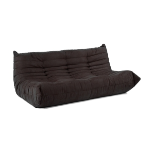 Downlow Black Sofa Full Length Couch - Alphaville Design
