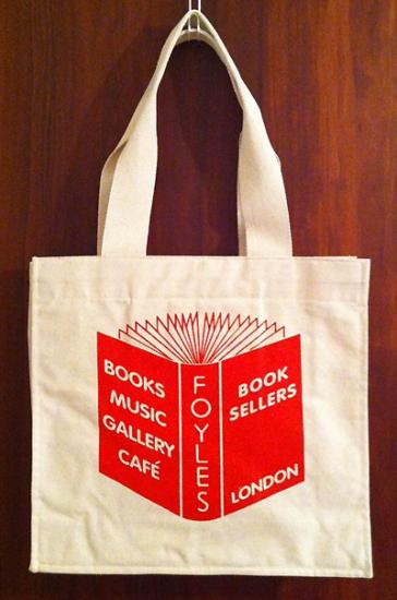 FOYLES BOOKS LONDON - TOTE BAG - GADGET | record, book, object