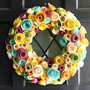 Paper Flower Wreath MultiColor by FourthInLineKC on Etsy