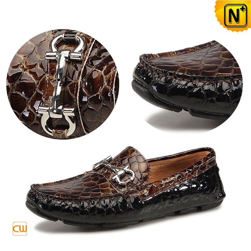 Mens Patent Leather Driving Moccasins CW740021
