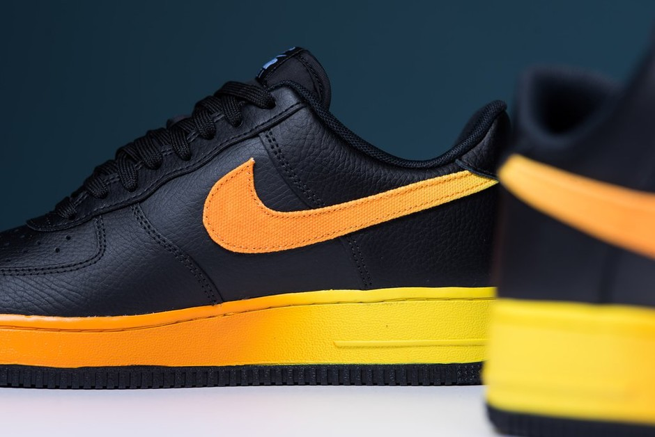 Nike Air Force 1 '07 LV8 - Black/Orange Peel/Opti Yellow - Sneaker Politics