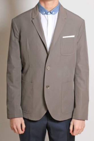 NEIL BARRETT BGI76 Two Button Jacket in Taupe - JACKETS from Autograph UK