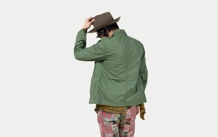 ENGINEERED GARMENTS/Bedford Jacket-Cotton Ripstop-Olive