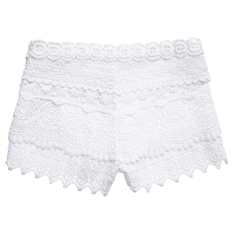 Mayoral - Girls White Lace Shorts | Childrensalon
