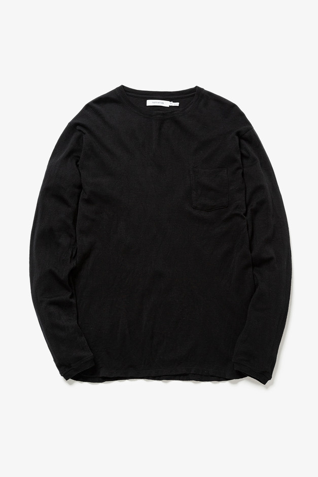 DWELLER L/S TEE WOOL JERSEY|LONG SLEEVE TEES|COVERCHORD