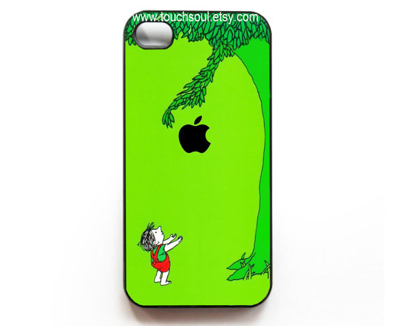 the giving tree with apple logo iPhone 4 Case iPhone by touchsoul