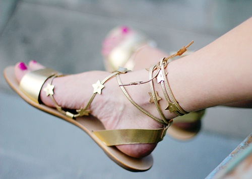 Let's Get Some Shoes / Loeffler Randall star sandals via @Sally McWilliam + Molly