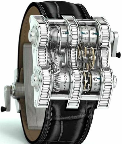 bookofjoe: Cabestan Winch Tourbillon Vertical Watch — Steampunk Time