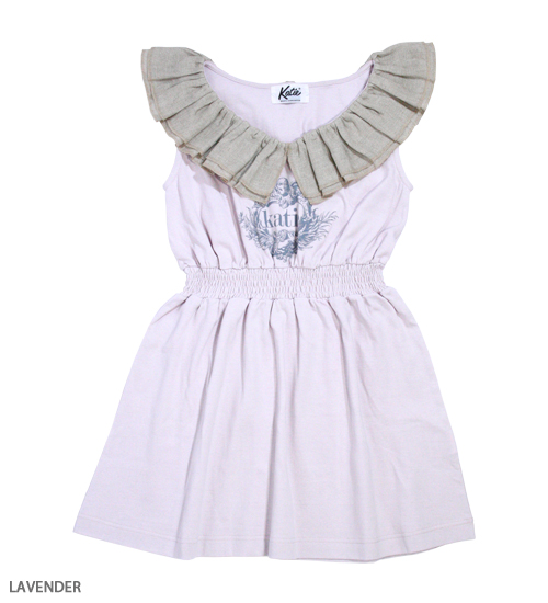 DRESS - ANGEL LOGO no sleeve one-piece - Katie Official Web Store