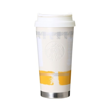Winter Stainless Logo Cup Tumbler Ivory 470ml